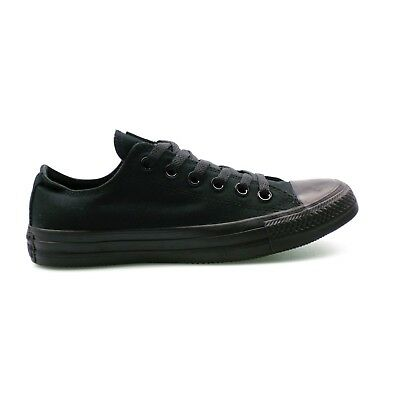 Converse Chuck Taylor All Star Ox Low Top Black Mono Canvas Unisex Trainers SALE