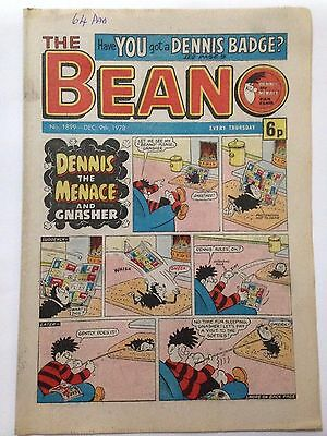 DC Thompson THE BEANO Comic. Issue 1899 December 9th 1978 **FREE UK POSTAGE**