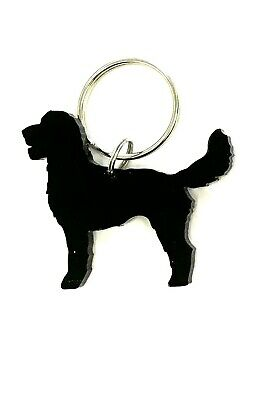 Labradoodle Dog Keyring Keychain Bag Charm Gift Treat Yourself In Black