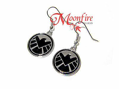 The Avengers Agents Of Shield Logo Symbol Earrings Agents Of S.h.i.e.l.d