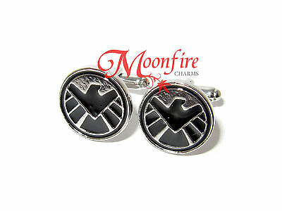 The Avengers Agents Of Shield Logo Symbol Cufflinks Agents Of S.h.i.e.l.d