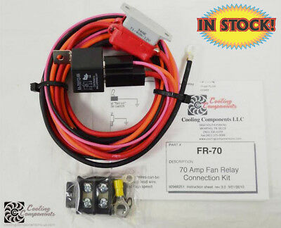 Cooling Components 70 Amp Fan Relay with Maxi Fuse & Holder - FR-70
