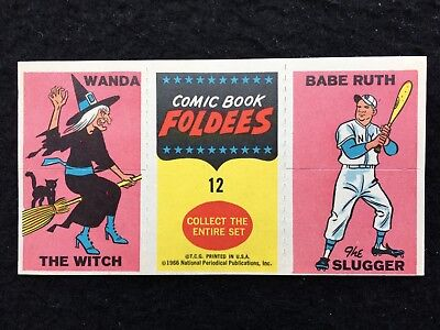 1966 Comic Book Foldees #12 Babe Ruth Wonder Woman The Witch Topps - FCC