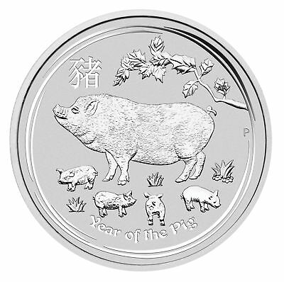 Roll of 20 - 2019 $1 1oz Silver Australian Year of the Pig .9999 BU (Series II)