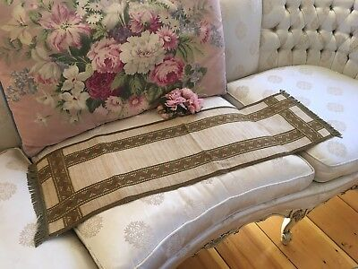 Large Antique French Metalwork Table Runner Arts & Crafts N17