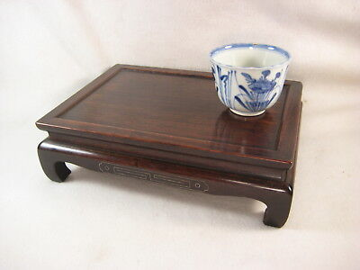 Antique Japanese 100 Yr Old Taisho Era Black Rosewood Ikebana Bonsai Stand