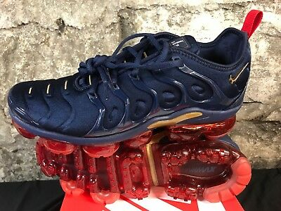Nike Air Vapormax Olympic Plus Midnight Navy Gold OG 924453-405 8.5-13 Ships Now