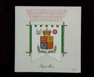 1987 United Kingdom Brilliant Uncirculated Coin Collection From Royal Mint