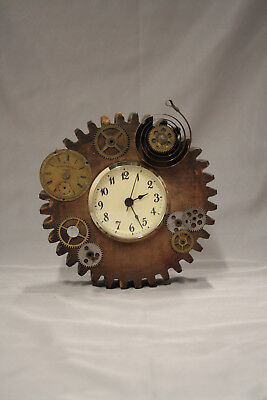 Vintage Foundry Gear Cog Mold clock, steampunk, industrial,man cave, Salvage Art