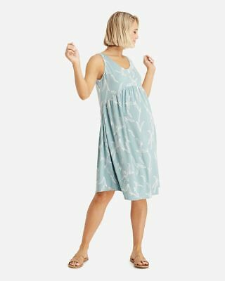Bamboo Body Tilly Smock Maternity Dress Eucalyptus Blue White Size Medium (12) M