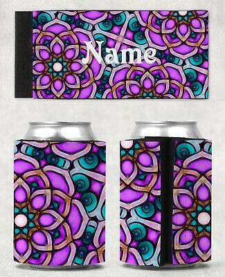 Mandala Personalised With or Without Name Stubby Holder Can Cooler