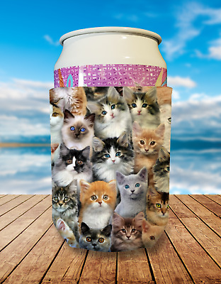 Cat Collapsible Stubby Holder Can Cooler
