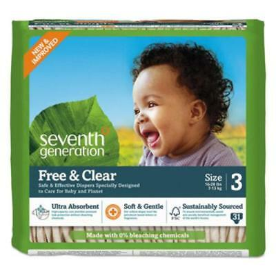 Seventh Generation 44062 Free And Clear Baby Diapers, Size 3, 16 Lbs To 24 Lbs,