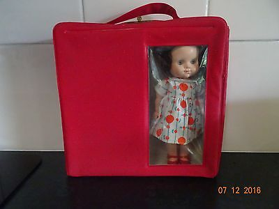 "Pedigree Carry Me Case, 8"" Doll, Outfits & Original Red Case"