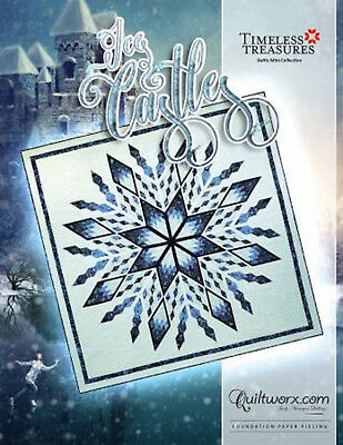 "Judy Niemeyer ICE CASTLES Foundation Paper Pieced Quilt Pattern 100"" x 100"""
