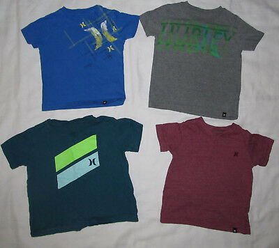 Lot of 4 Hurley Short Sleeve Tee T Shirts Boys Infant Toddler Size 12 18 Months