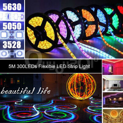 5M 3528/5050/5630 SMD LED RGB Flexible Lampe Bande IP65 + Remote Fête Noël Décor