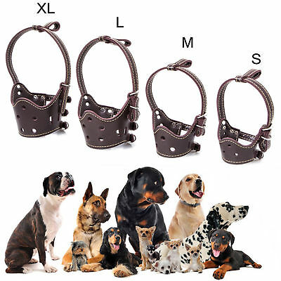 Dog Face PU Leather Mask Muzzle Mouth Anti-bite Duck Anti-called Cover Shape