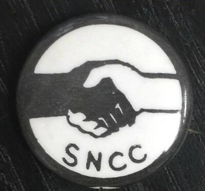 Rare Sncc Student Non Violent Political Activist Civil Rights Pinback Button