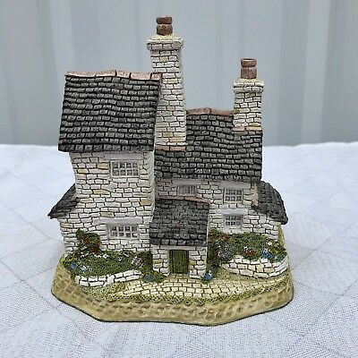 David Winter Cottages Stone Cutter's Cottage British Traditions February Box COA