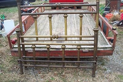vintage antique brass bed complete rails