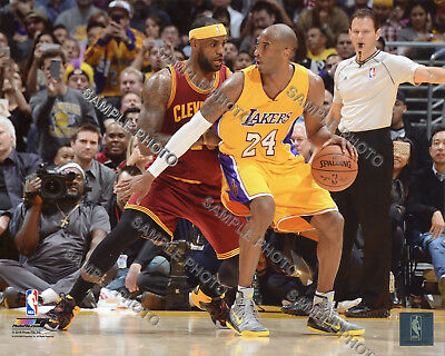 Lebron James & Kobe Bryant 2015 Cavs vs LA Los Angeles Lakers 8X10 PHOTO