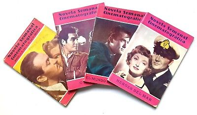 Lot Of Rare And Scarce Cinematographic Novels Magazines In Spanish - 1953