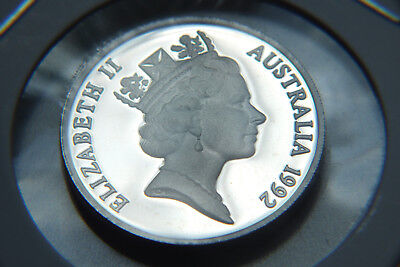 1992 Australian Proof 20 Cent Coin.