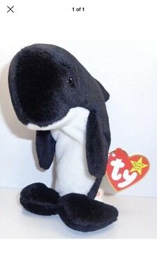 Mint Ty Beanie Baby Babies ~ WAVES the KILLER WHALE ~ Plush ~1996~ MWMTs~Retired