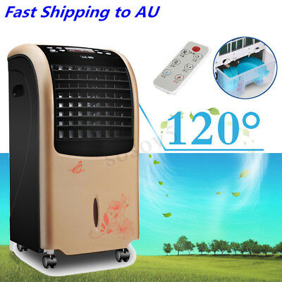 8L 3 Speed Portable Evaporative Air Cooler Electric Cool Cold Fan Conditioning