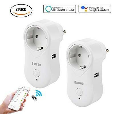 Enchufe Inteligente WiFi Inalámbrico 2-Pack Bawoo Smart Socket (2 Pack)