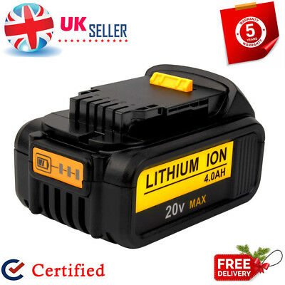 For Dewalt DCB205-2 DCB200-2 XR 4.0Ah Lithium Ion DCB184 DCB182 18V/20V Battery