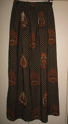Vintage Traditional Indonesian Cotton Skirt  Size Small Excellent Condition