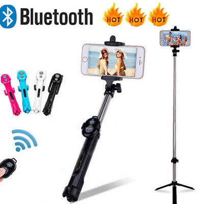 Extendable Selfie Stick Tripod w/ Wirless Bluetooth Remote For iPhone X Samsung