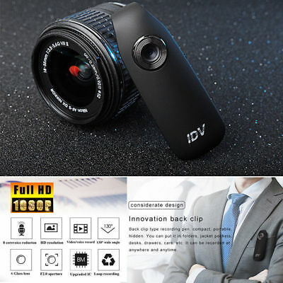 HD 1080P 130° Mini Camcorder Dash Cam Police Body Motorcycle Bike Motion Camera