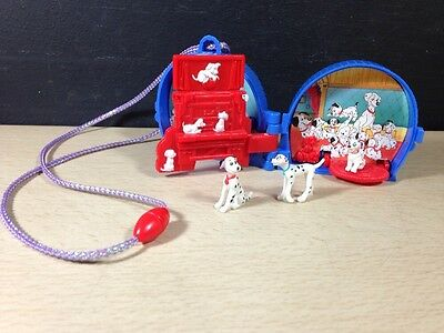 Vintage POLLY POCKET DISNEY 101 DALMATIONS PLAYSET WITH 3 DOGS 1996