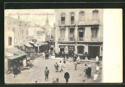 CPA Tangiers, Sciaguim Street, commerces 1907
