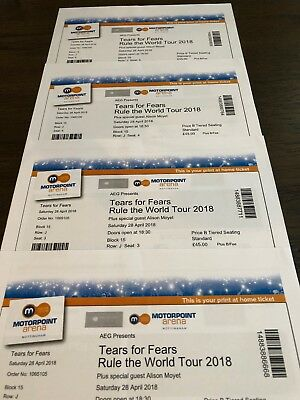 Tears For Fears Seated Tickets Nottingham Motorpoint Arena 13 Feb 2019