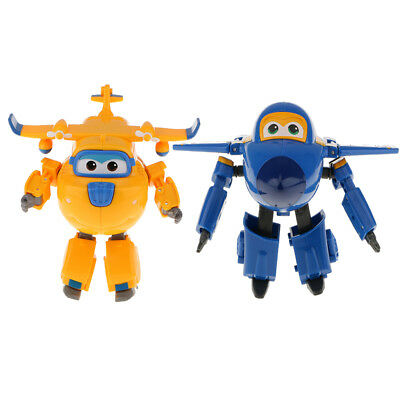 2pcs Large Super Wings Jerome Donnie Figures Transforming Robot Plane Toy