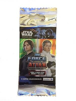 ☆ Sobres Cerrados Star Wars Rogue One Force Attax, Carrefour - Precio Por Unidad