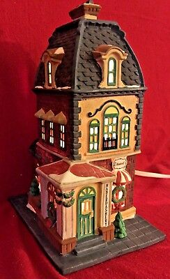 The Haberdashery Dept 56 Christmas in the City Village 55310 hat shop store A