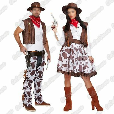 Cowboy Western Fancy Dress Costume Stag Party Sheriff Rodeo Adult Mens