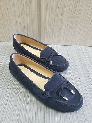 88998994a6a6 MICHAEL KORS DAISY Moccasin Suede With Bow Navy Blue Size. 7.5M ...