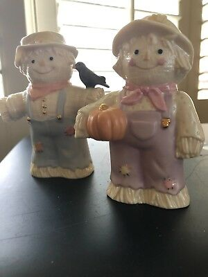 Lenox Scarecrow Salt And Pepper~Adorable And Brand New!