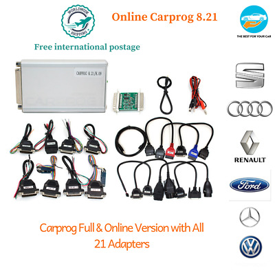 Carprog V8.21& V10.93 With All 21 Adapters Include Full Functions Authorization