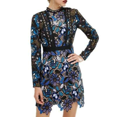 Self Portrait HIGH QUALITY 2018 spring new arrive long sleeve Lace dress