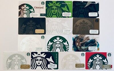 13x Starbucks SIREN Gift Card Lot 2010 - 2018 Special Editions, Braille, Onward