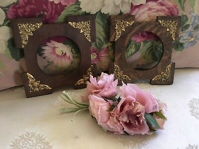 Pair Of Antique Victorian Wood Frames French Filigree #N