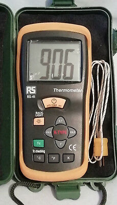 RS PRO RS41 Digital Thermometer,1 Input Handheld,K Type Input
