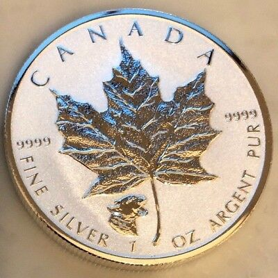 2017 1 Oz Silver $5 CANADIAN COUGAR PRIVY MAPLE LEAF Reverse Proof Coin